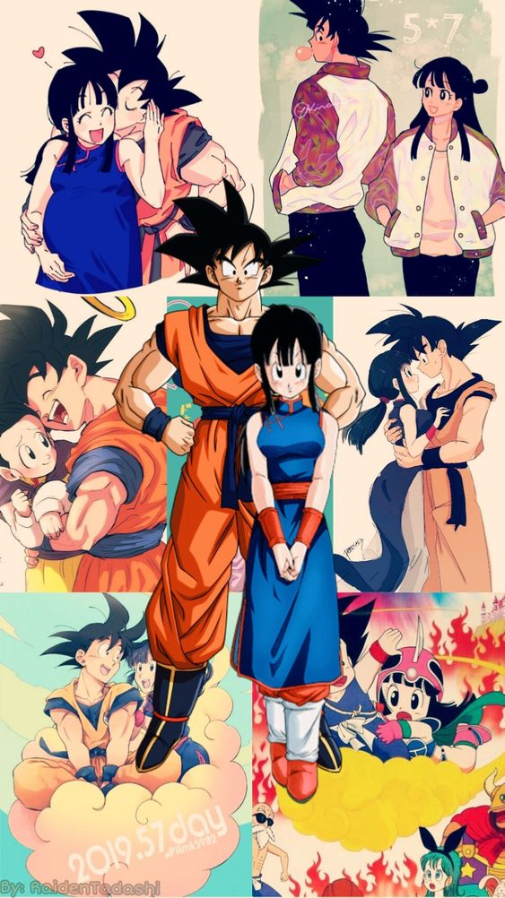 Wallpaper Gochi For Alishba All Credit To The Authors Of Fanart In Background Dragon Ball Art Dragon Ball Artwork Dragon Ball Wallpapers