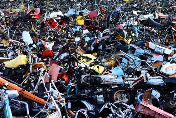 Motorcycle Junk Yard See If You Can Recognize Any Of The