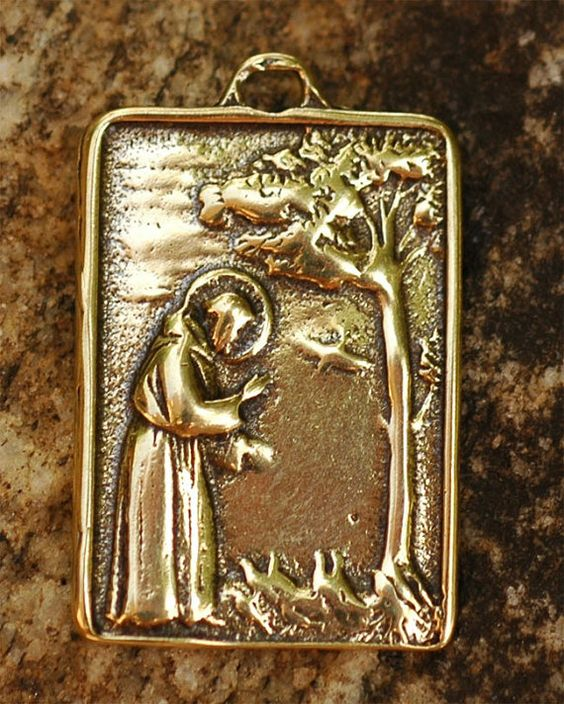 Saint Francis of Assisi Pendant or Big Charm in by cathydailey, $7.78