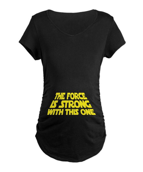 Take a look at this Black Star Wars Maternity Tee on zulily today!