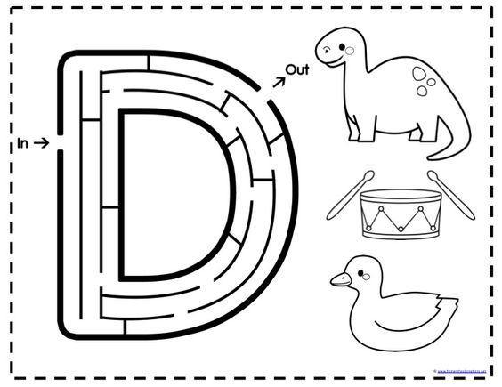 Maze, Free Printables And Preschool Alphabet