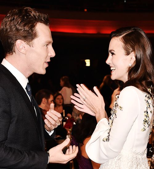 """"""" Benedict Cumberbatch and Keira Knightley attend the 18th Annual Hollywood Film Awards at The Palladium on November 14, 2014 in Hollywood, California. """""""
