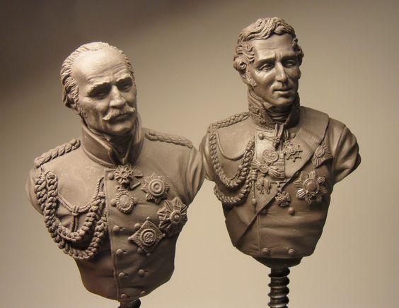 WIP - Waterloo trio / Wellington , Blucher, Napoleon/ scale 1/9 | planetFigure | Miniatures