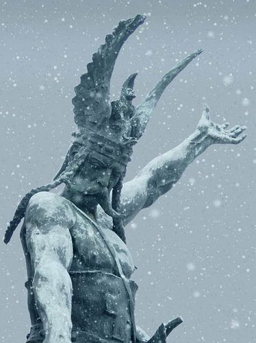 A statue of a Viking King, Turin, Italy: