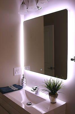 Windbay 19 24 30 36 48 60 Led Bathroom Mirror Illuminated Mirror Bathroomdesignmirr Led Mirror Bathroom Illuminated Mirrors Bathroom Vanity Mirror