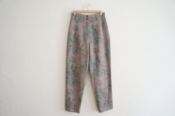 High Waisted Floral Pants