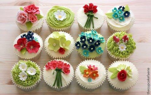 cupcake de flores