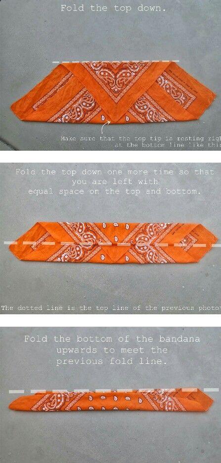 how to fold a bandana for a head band