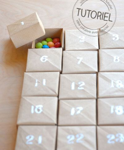 15 id es pour cr er un calendrier de l avent diy et original advent calendar calendar and. Black Bedroom Furniture Sets. Home Design Ideas