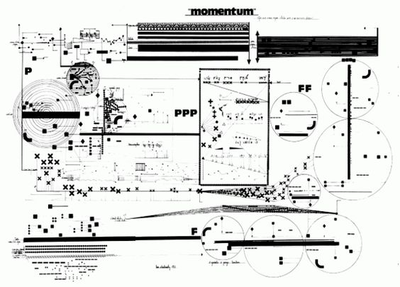 graphic notation of momentum  1973  by leon schidlowsky