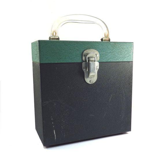 Metal 45 rpm Storage Box Vintage 1960s Vinyl by VintageCreekside