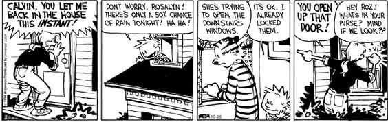 Calvin and Hobbes Comic Strip   for Oct/25/2014  on GoComics.com