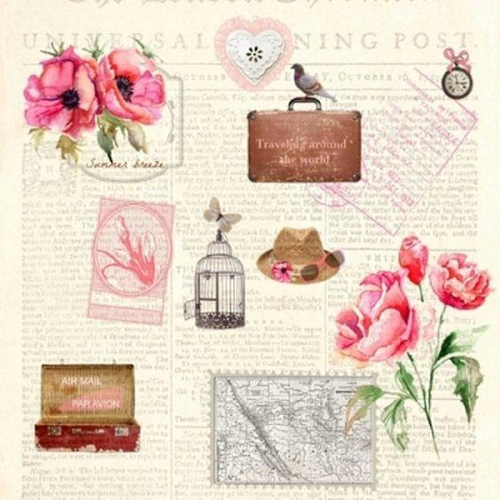 Decoupage servilletas 4 piezas MARIEKE rosa por LanternsByTamara