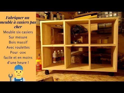 Fabriquer Un Meuble A Casiers Pas Cher Video Non Sponsorisee Youtube Fabrication Meuble Meuble Casier Casier