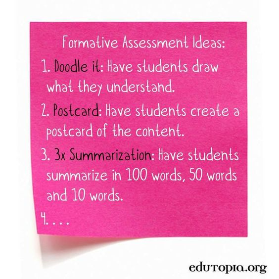 Examples Of Formative Assessment  Ideas Formative Assessment