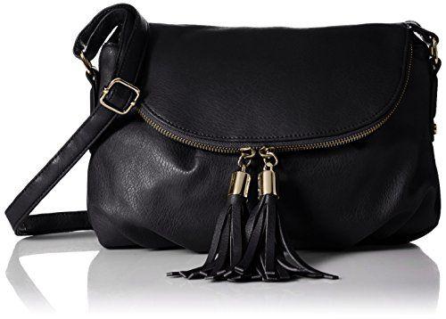 DEL MANO Flap Cross Body with Double Tassels Bag, Black, One Size DEL MANO http://www.amazon.com/dp/B010S8U8IM/ref=cm_sw_r_pi_dp_KDNLwb18WK9RP