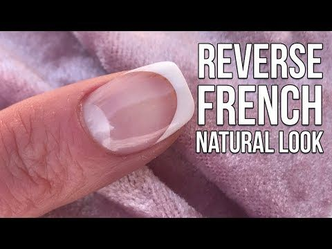 1 How To Do A Natural Reverse French Acrylic Overlay Youtube Acrylic Nail Kit Acrylic Nails At Home Short Acrylic Nails