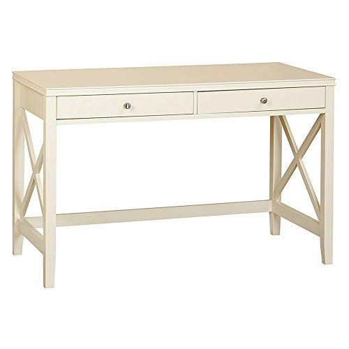 Writing Table White With Storage Drawers Mid Century Computer