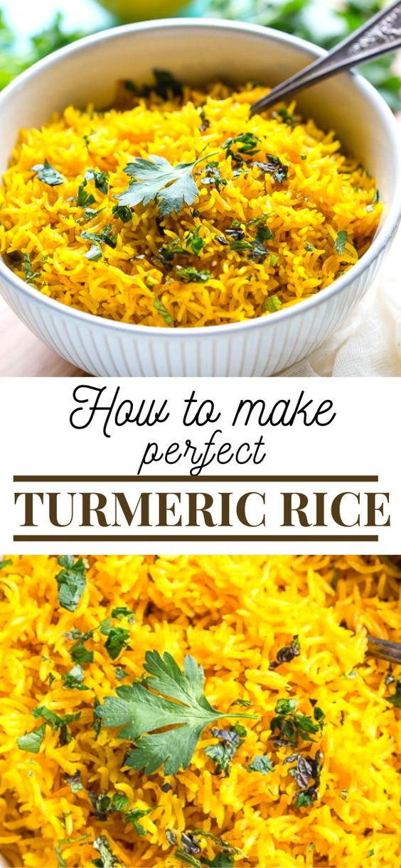 This vibrant Turmeric Rice Recipe is a fast and easy side dish perfect for brightening up your weeknight dinner.