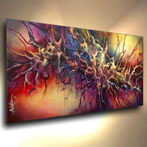 Lang Art Abstract Painting Modern Contemporary Decor Mix Lang Cert Original Deco | eBay