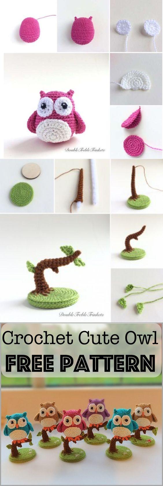 #Crochet Cute Little #Owls with Free #Pattern: