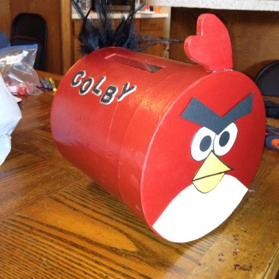 Angry bird valentine box
