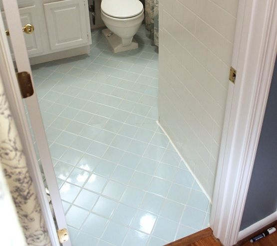 Amazing Bathroom Floor Ceramic Tile Paint With White Flooring