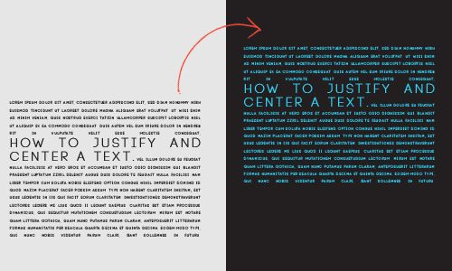 "TUTORIAL BY PSCS5; How to justify your text and a bonus on how to center it. • Windows • Photoshop cs5 extended was used • Font: Code Light [[MORE]] ""  Examples Provided:here and here "" 1. Select the..."