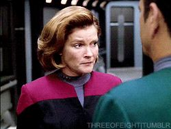 Captain Janeway and the Doctor - Gif