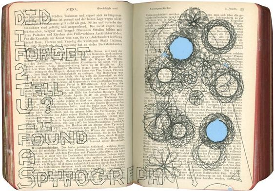 use an old book for sketching
