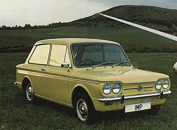 Hillman Imp  *childhood school pick ups in the Yellow Peril with vinyl seats.  Murder in the hot summer of 1976