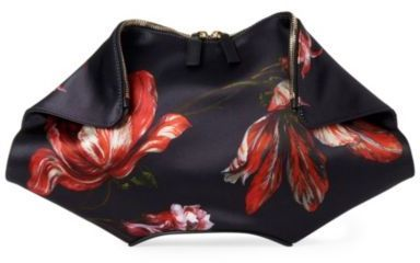 Alexander McQueen De Manta flower-print clutch on bagservant.co.uk