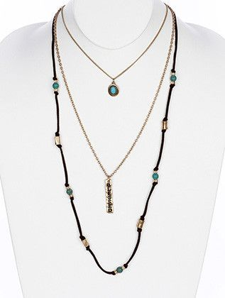 """""""Blessed"""" Multi Layer Long Necklace"""