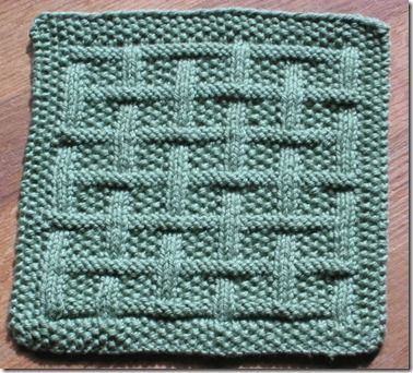 Basket weave dishcloth Crafts and knitting Pinterest ...