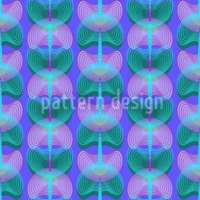 Mollusken Blau - Design mit stilisierten Mollusken.