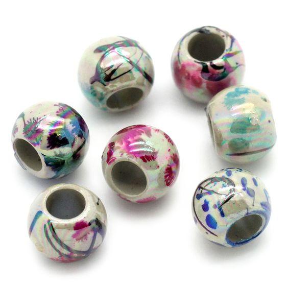 100 AB Schimmer Perlen 8mm Drawbench Muster 4mm Fädelloch Acryl Beads | Sonstige Kunststoff Perlen | Kunststoffperlen | Perlen |  günstig kaufen bei Bacabella.com | Perlen, Schmuck und Schmuckzubehör zum Schmuck selber machen | Schmuck basteln DIY DoItYourself | ganz individuell und einfach | Schmuckperlen