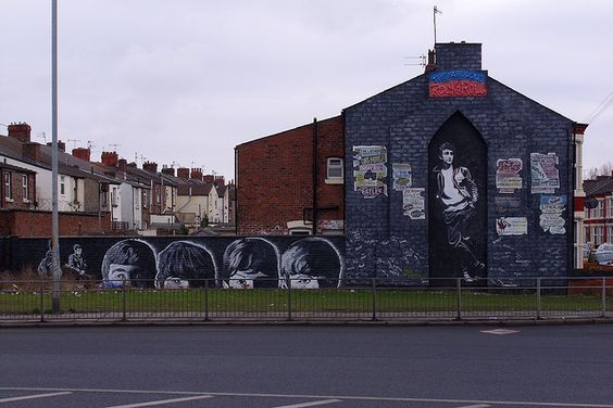 The Beatles Wall Mural in liverpool, liverpool john lennon airport, the beatles, the beatles tours