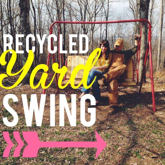 recycled yard swing--lettersfromthenest.com