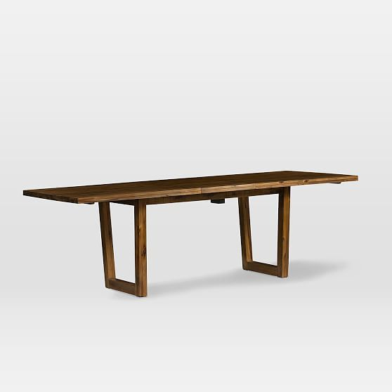 Logan Industrial Expandable Dining Table 75 94 Natural