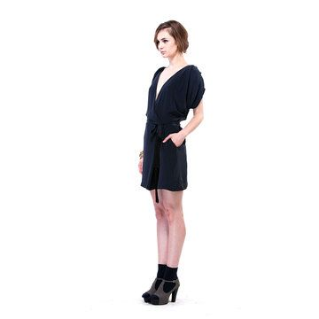Fala Chien: Lulu Dress Navy, at 50% off!
