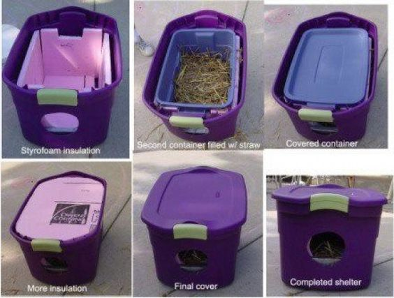 cat shelters and its easy to build you can even use crappy tots...