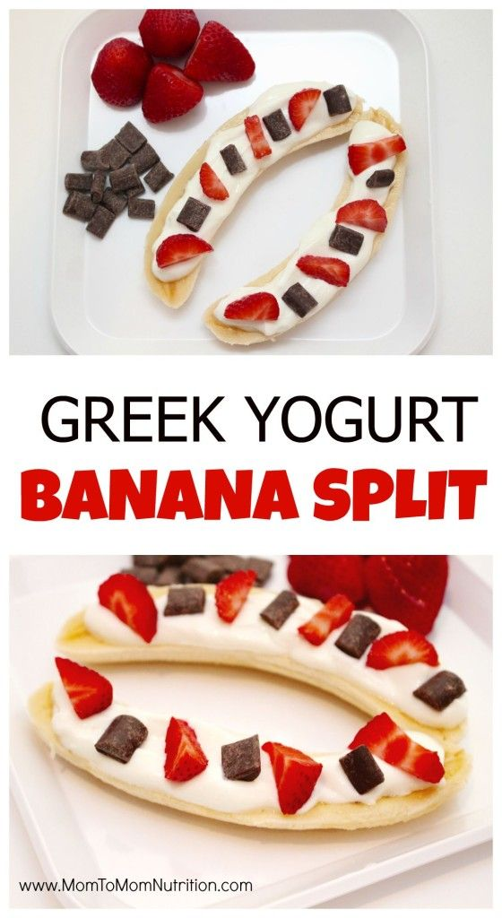 Banana split, Greek yogurt and Yogurt on Pinterest