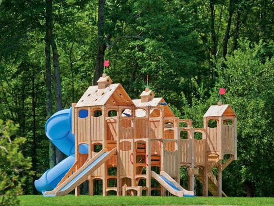 Materials for Outdoor Play    When picking your outdoor playground, pay attention to the materials. Cedar Works uses splinter-free, chemical-free and maintenance-free Northern White Cedar wood for a kid-friendly outdoor design.   - See more at: http://www.hgtvremodels.com/outdoors/outdoor-room-ideas-for-kids/pictures/index.html#sthash.fmjwAJHI.dpuf