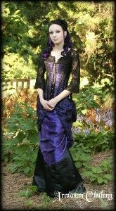 Victorian Bustle Lace Over skirt - front