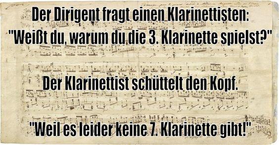 Weißt du warum du die 3. Klarinette spielst