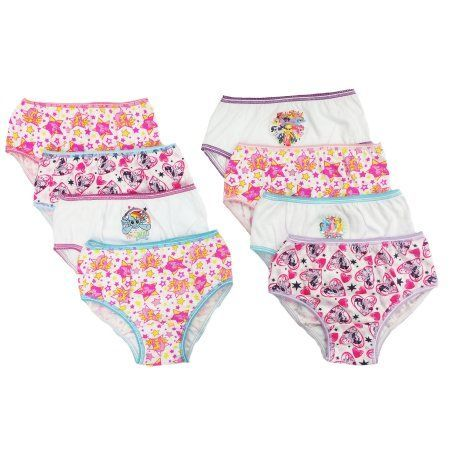 My Little Pony Girls Underwear, 7 1 Bonus Pack, Girl's, Size: 4 ...