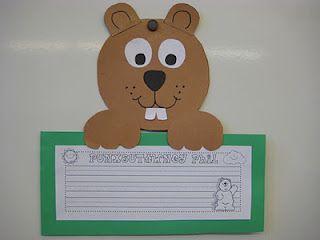 A great writing lesson for groundhog day.
