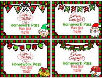 Holly Trees Homework Pass img-1