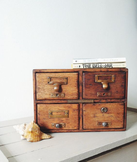 Reserved for Emily - Antique Library Card Catalog . Industrial ...