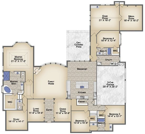 Love This Plenty Of Space Floor Plans Mansion Floor Plan House Floor Plans